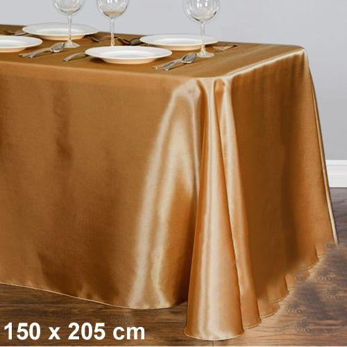 Gold Masa Örtüsü Saten Lüks 150x205 cm
