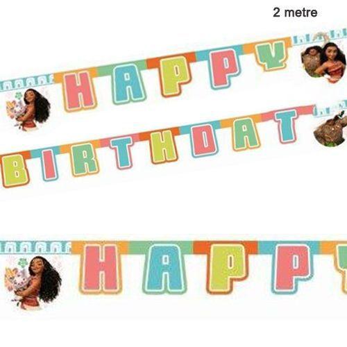 Moana Happy Birthday Yazısı (2 m.)