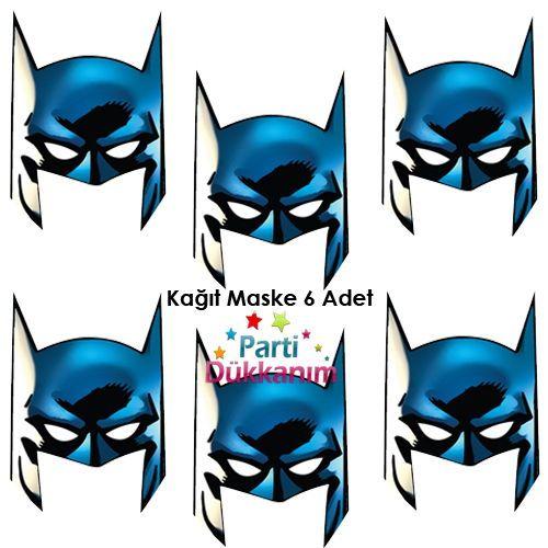 Batman Kağıt Maske (6 Adet), fiyatı