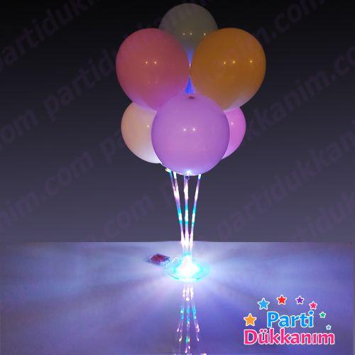 Işıklı Balon Standı 7'li (A-Kalite), fiyatı