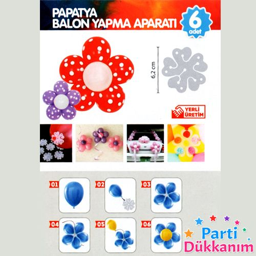 Papatya Balon Yapma Aparatı 6'lı (6 Adet)