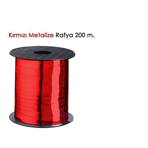 Metalik Kırmızı Rafya (200 M - 8 mm)