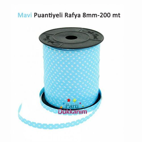 Mavi Puantiyeli Rafya 200 metre, fiyatı