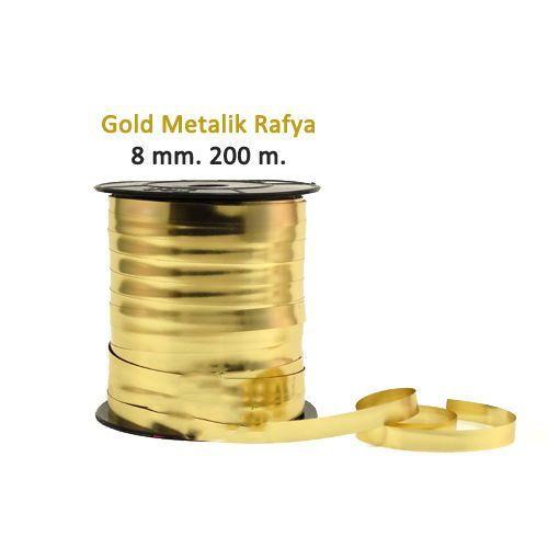 Metalik Altın Sarısı Rafya (200 M - 8 mm)