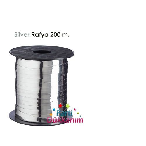 Metalik Silver Rafya (200 M - 8 mm)