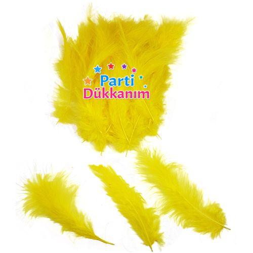 Balon İçin Kuş Tüyü Sarı 100 adet