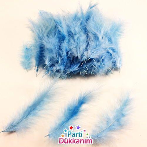 Şeffaf Balon İçi Tüy Açık Mavi 100 adet, fiyatı