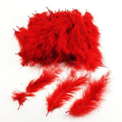 Şeffaf Balon İçi Tüy Kırmızı 100 adet, fiyatı
