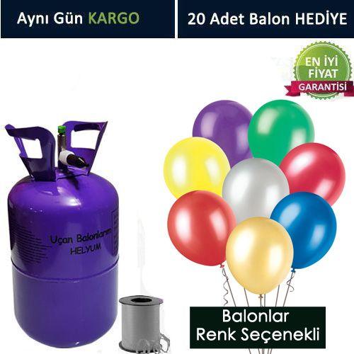 Helyum Tüpü 2.2 lt (20 Adet Balon)