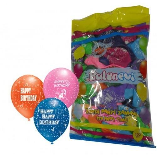 Happy Birthday Balonu (100 Adet)