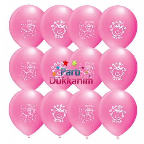 Baby Girl Balon (100 adet)