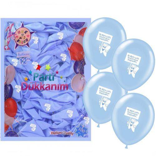Diş Buğdayı Mavi Balon (100 Adet)