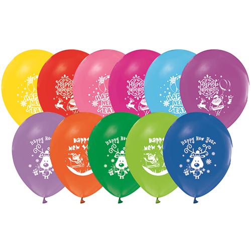 Yeni Yıl Balonları (20 Adet Renkli)