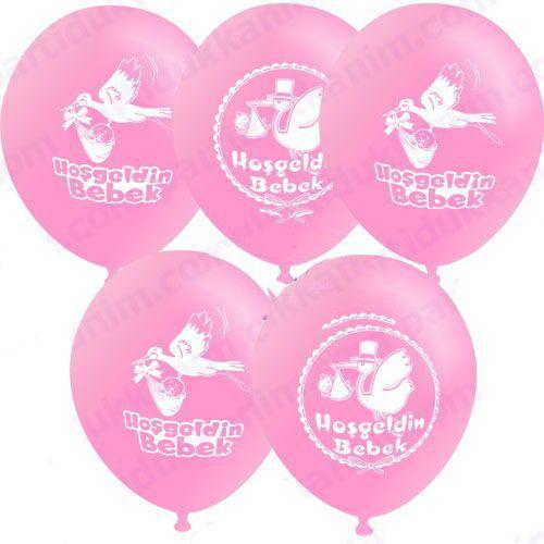 Hoşgeldin Bebek Balonu Pembe (20 adet )
