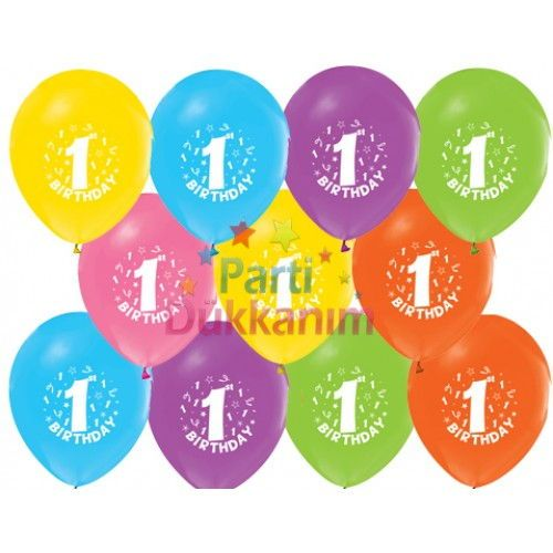 1 Yaş Balonları (100 adet)