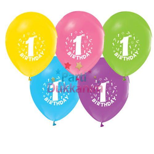 1 Yaş Balonları (20 adet)