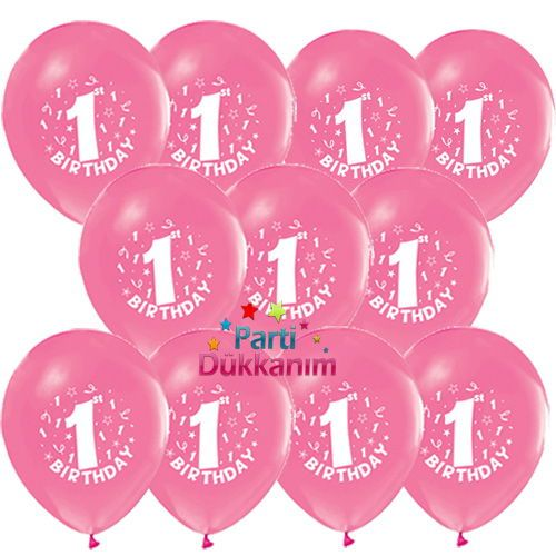 1 Yaş Pembe Balon 100 adet