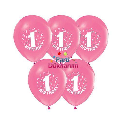 1 Yaş Pembe Balon 20 Adet