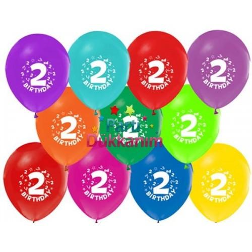 2 Yaş Balonları (100 adet)