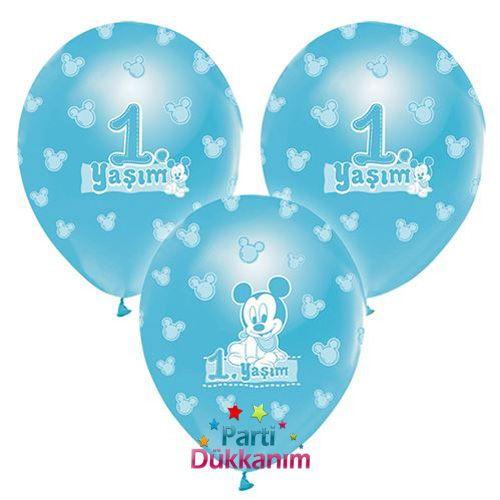 Mickey Mouse Balon 1 yaş (15 Adet), fiyatı
