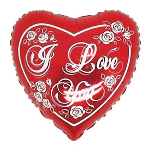I Love You Silver Hearts Folyo Balon 45 cm