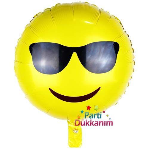Emoji Gözlüklü (Cool)Folyo Balon 45 cm, fiyatı
