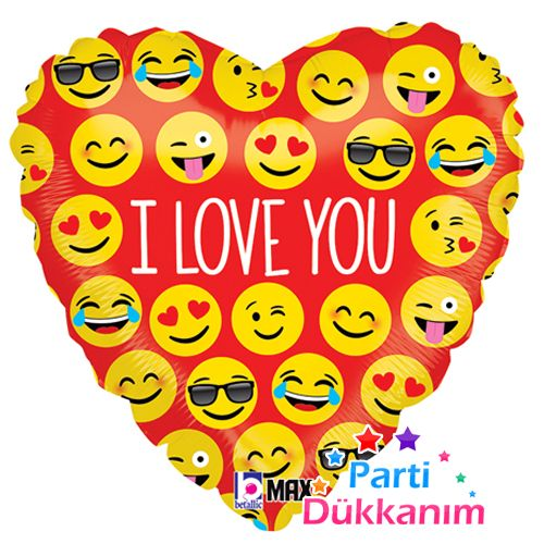 Kalpli Emoji Folyo Balon (45 cm), fiyatı
