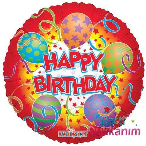 Happy Birthday Printed Folyo Balon 45 cm