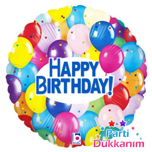 Happy Birthday  Party Balloons Folyo Balon 45 cm