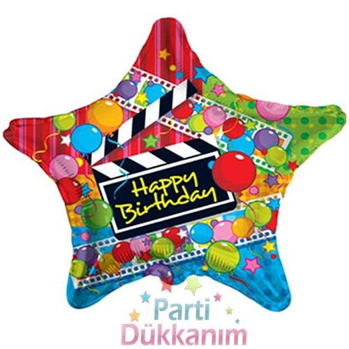 Happy Birthday Yıldız Folyo Balon 18 inch