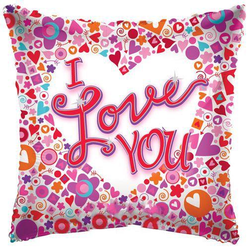 I Love You Mosaic Folyo Balon 45 cm
