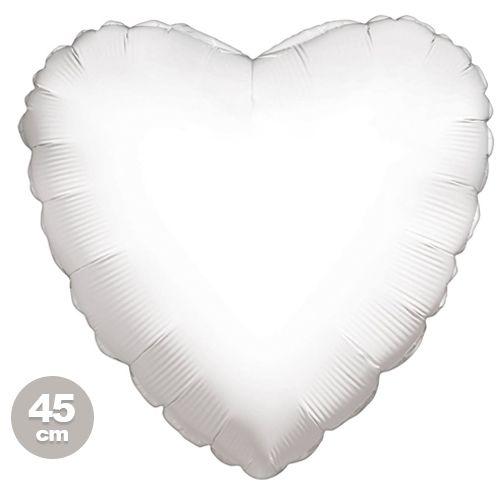 Beyaz Kalp Folyo Balon (45 cm)