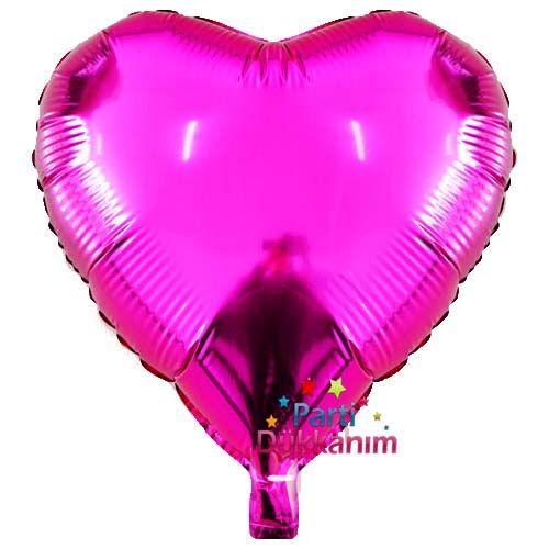 Fuşya Kalp Folyo Balon (45 cm)