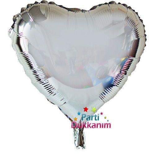 Gümüş Kalpli Folyo Balon (45 cm), fiyatı