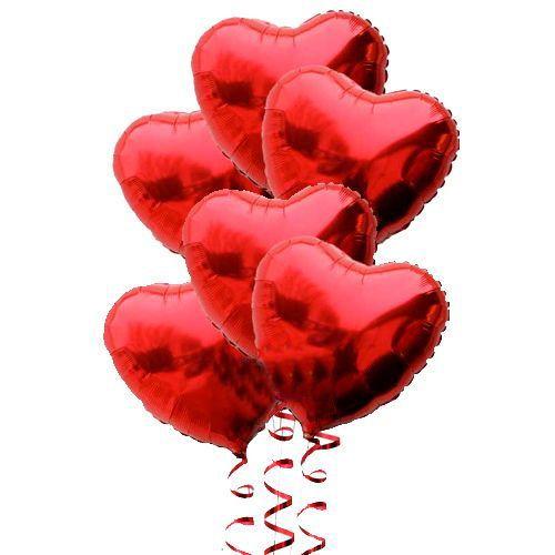 Kalpli Folyo Balon Demeti (Helyumsuz 6 adet)