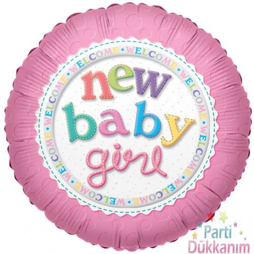 New Baby Girl Folyo Balon (45 cm)