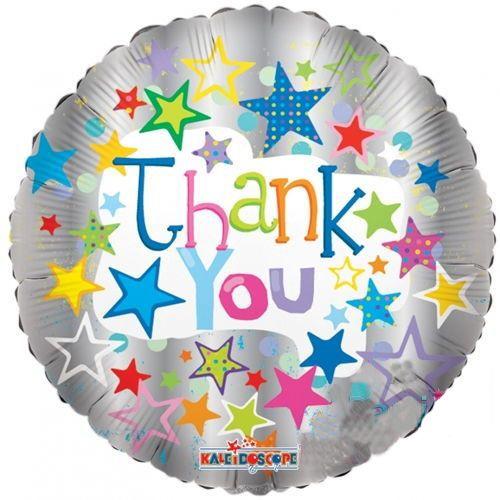 Thank You Stars On Metalic Folyo Balon 45 cm