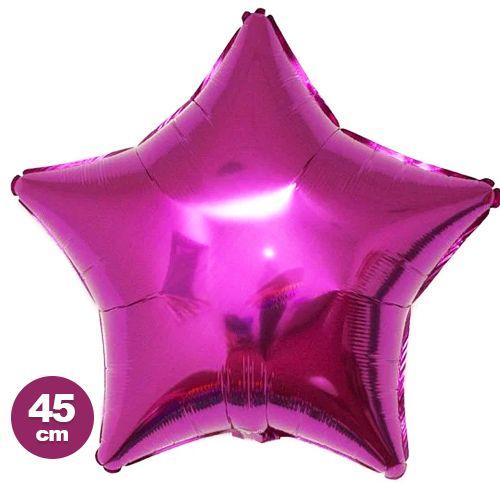 Yıldız Folyo Balon Fuşya (45 cm), fiyatı