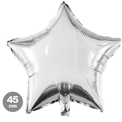 Yıldız Folyo Balon Gri (45 cm)