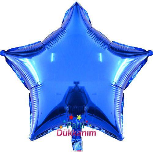 Yıldız Folyo Balon Mavi (45 cm), fiyatı