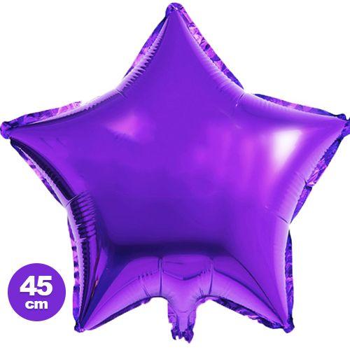 Yıldız Folyo Balon Mor (45 cm)