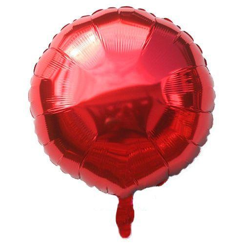 Yuvarlak Folyo Balon Kırmızı (45 cm)