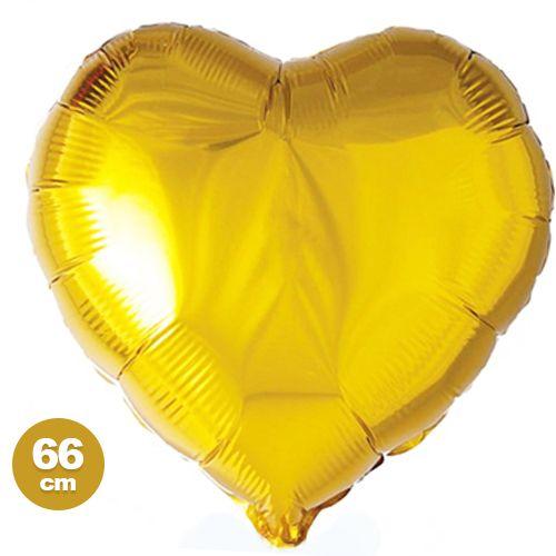 Altın Sarısı Kalp Folyo Balon (66 cm), fiyatı
