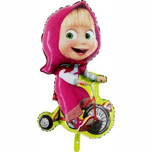 Masha Bisikletli Süper Shape Folyo Balon (Büyük)