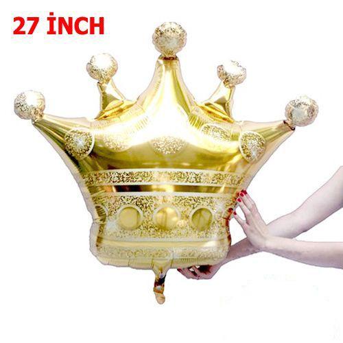 Kral Tacı Folyo Balon Gold (70x60 cm), fiyatı