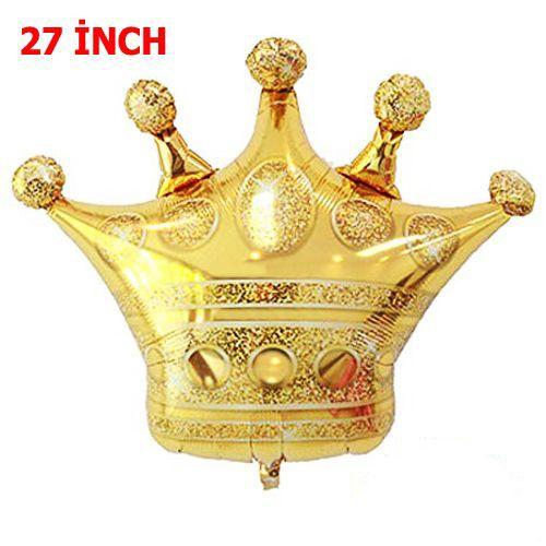 Kral Tacı Folyo Balon Gold (70x60 cm)