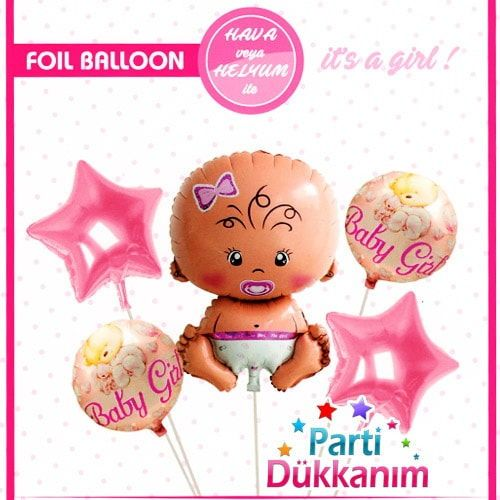 Baby Girl Folyo Balon Set