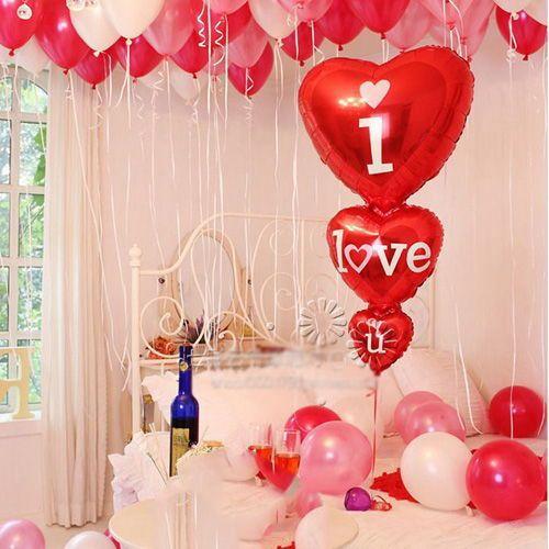 I Love you 3'lu Kalp Folyo Balon (50x100 cm), fiyatı