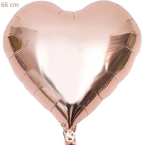 Rose Gold Kalp Folyo Balon (66 cm), fiyatı
