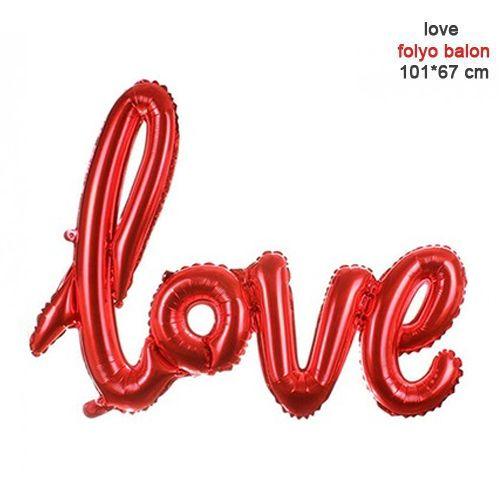 Love Folyo Balon Kırmızı 67x101 cm